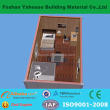 Small exquisite modern design flatpack prefab container house