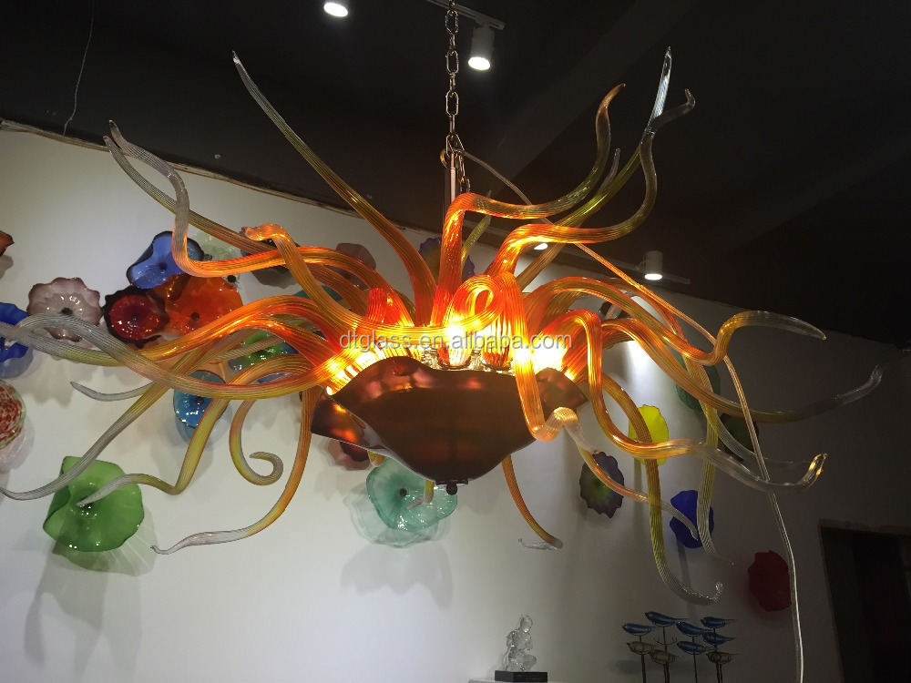 Chihuly Style Colored Murano Hand Blown Glass Beads Decorative Chandelier light