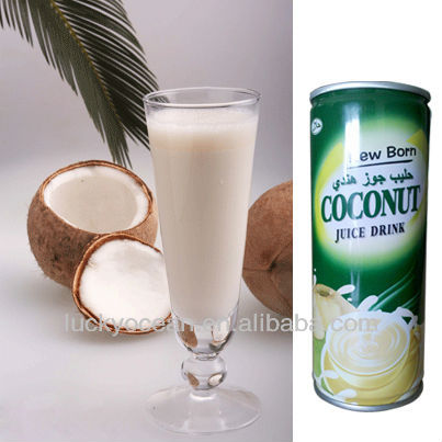 coconut water canned cool beverage soft drink