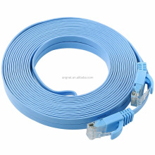Copper RJ45 Ethernet Cord Soft UTP/FTP Network Patch Cord Flat Cat5e/Cat6/Cat7 thin cord