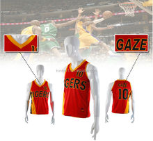 red basketball jersey uniforms