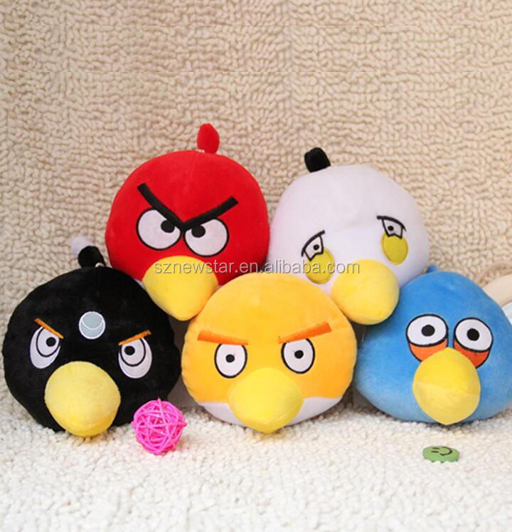Factory price 18cm birds plush toy soft stuffy plush toys for Crane Catcher machines new Christmas gift
