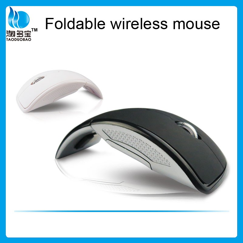2.4g wireless optical folding computer mouse, color box package, ISO9001 approved shenzhen factory