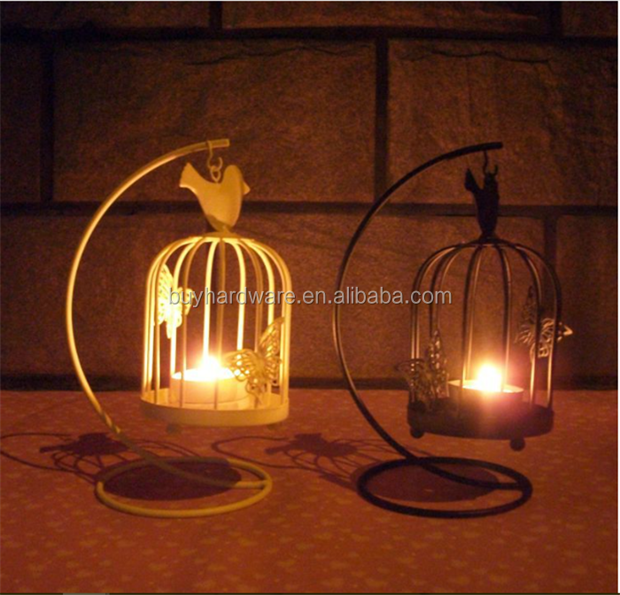 Vintage Metal Bird Cage Candle Holder Stand Lantern Wedding Table Decoration