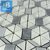 High Quality Italy Grey glass mosaic vase