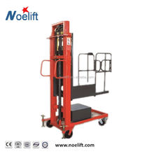 Electric Order Picker lift, Mobile Aluminium Mast Ladder Lift