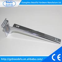 wholesale chrome metal shelf bracket for slatwall
