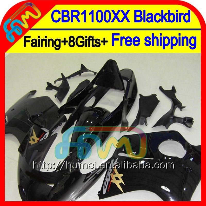 8Gifts+ Gloss black For HONDA CBR1100XX 96-07 CBR1100 XX 75HM18 CBR 1100XX 96 97 98 99 00 01 02 03 04 05 06 07 1100 XX Fairing