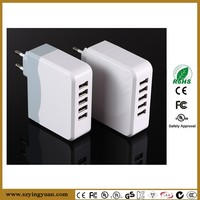 Wall mounted Safety 5V6.8A FIVE Port USB Charger With EU Plug