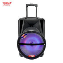 Wholesale high quality temeisheng(feiyang) active speakers 10 inch powered subwoofer box with microphone with light Bar