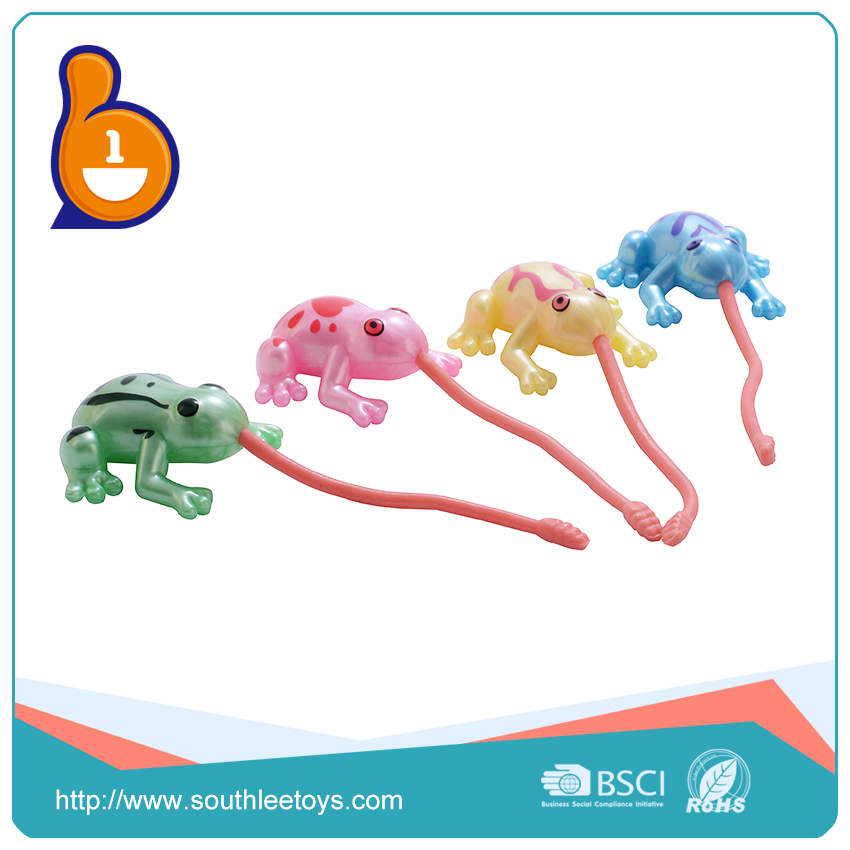 New toys 2017 hobbies educational toy animals funny long tongue crawl frog novel toy for child
