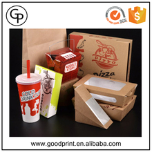Fast food packaging Disposable takeaway custom logo printed paper fast food packaging