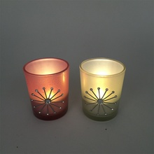 Wholesale votive glass cross candle holder