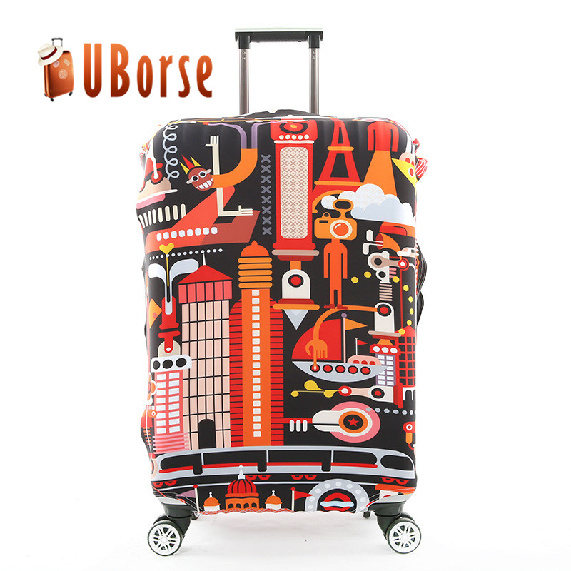 Wholesale Foldable Protective Elastic Travel Custom Logo Spandex Cover Luggage Bag Suitcase Cover