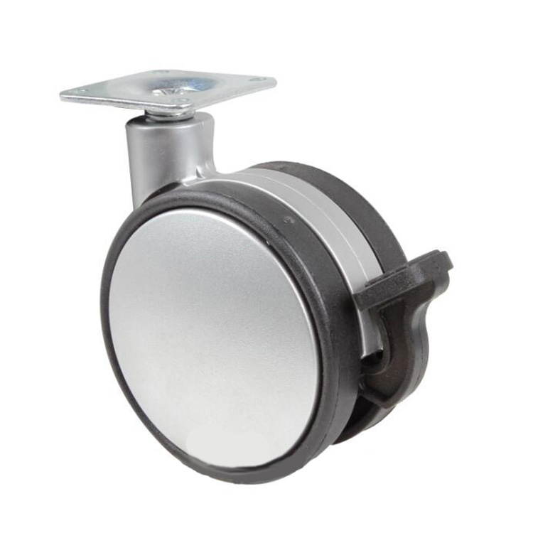 Hot selling 75mm swivel caster plastic <strong>wheel</strong>