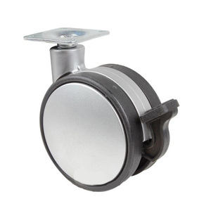Hot selling 75mm swivel caster plastic wheel