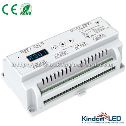 DMX512 controller dmx-pwm CV decoder for RGB LED strip LED tube lights