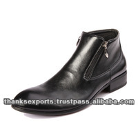 party wear high ankle high sole leather shoes for men in india