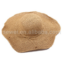 Sexy Ladies visor straw hats wide brim
