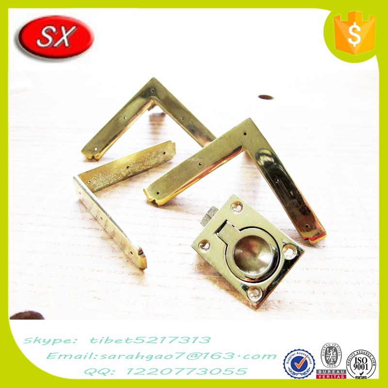 Customized safety metal table leg brackets for furniture , table corner brackets