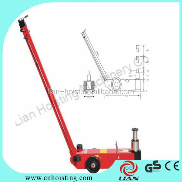 Car lifter floor Air hydraulic jacks with trolley