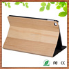 Shenzhen factory wholesale book style maple wood flip stand case for ipad mini 2/3/4 flip wood case for ipad mini