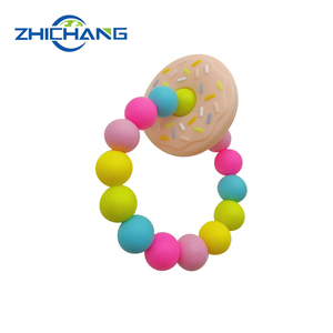 Food Grade soft baby chewable silicone necklace teething beads