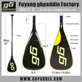 paddle board carbon fiber fiberglass colorful SUP paddle