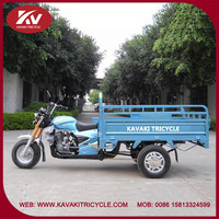 Popular hot selling blue three wheel covered motorcycle
