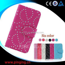 china supplier phone cases snow flower cover leather case for Samsung galaxy Grand Dous i9082