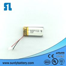 OEM lipo battery 5*20*23mm 502023 3.7V 180mAh li-polymer battery with UL1642