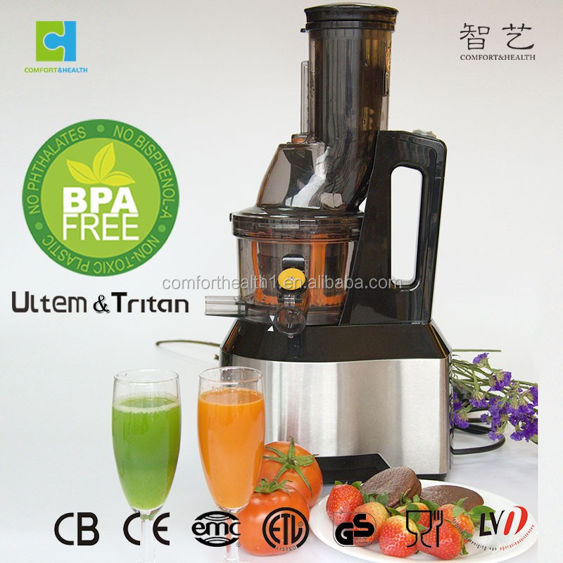 High quality low speed big mouth slow juicer for fruit and vegetables