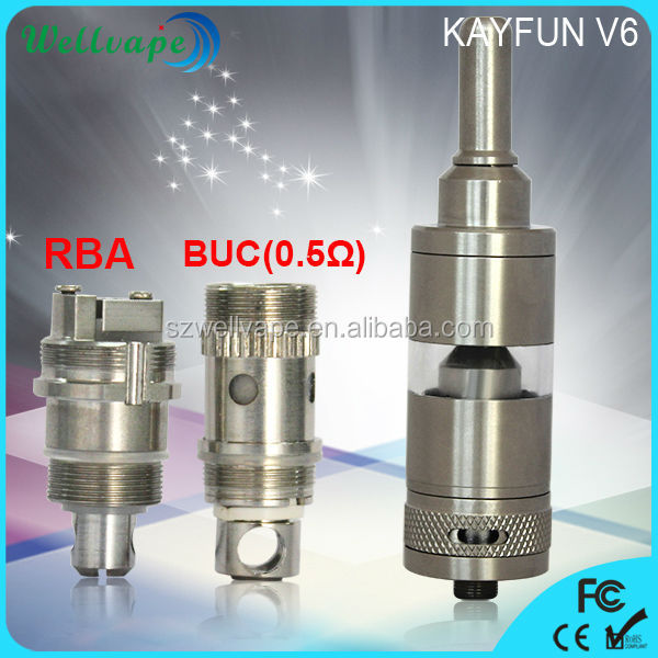 High quality sub ohm kayfun v6 e cigarette oil atomizer/clearomizer