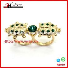 R5919 newest design alloy ring, diamond twins ring