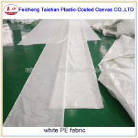 white transparent PE tarpaulin fabric