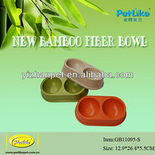 100% biodegradable eco-friendly pet bamboo dog bowl