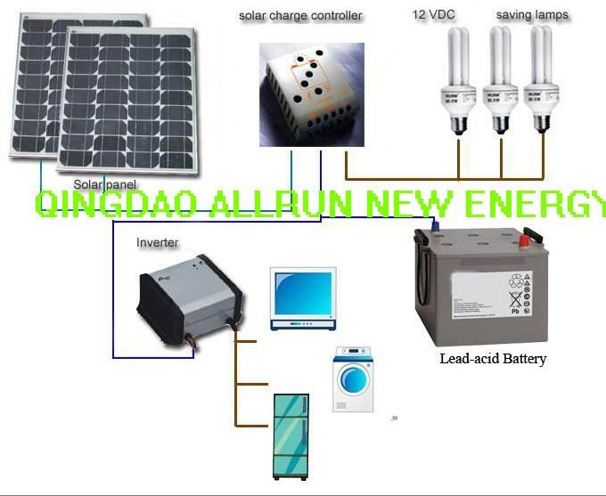 One stop solution 2kw solar power system include inverter generator for Mexico market