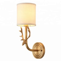 American simple style copper wall lamp for lobby