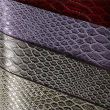 New designs many colors pu material snakeskin leather fabric