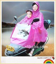 two people for adult and children motorcycle poncho