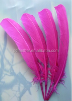 DIY turkey wing back feather, wholesaler price rose color turkey feather wing