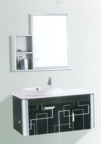 bathroom cabinets with stainless steel material