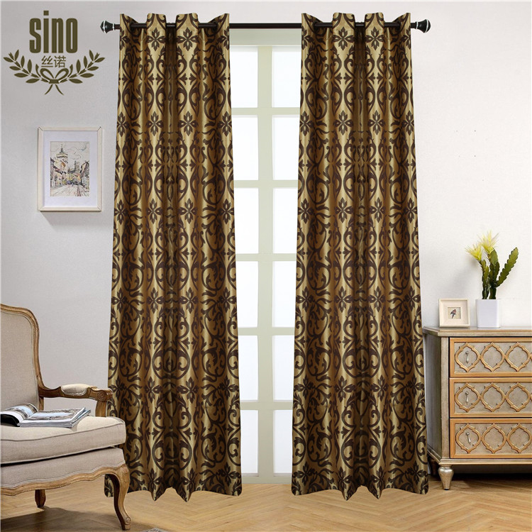 Professional Manufacture Cheap 100 poolyester blackout hotel curtain