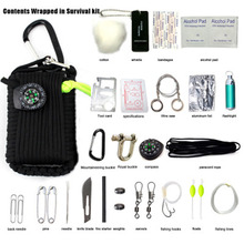 Tactical Parachute Emergency Preparedness Tool Kit With Different Survival Accessories