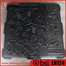 en124 ductile iron square manhole cover foundry direct sale