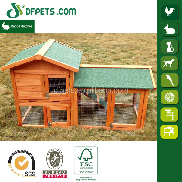 DFPETS DFR1204 Outdoor Wooden Rabbit Hutch Trays