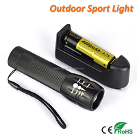Focus Zoom High Power Rechargeable LED Torch Flashlight