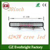 20inch 126W 8820LM 3W CREE led light bar led driving working light bars for offroad trucks