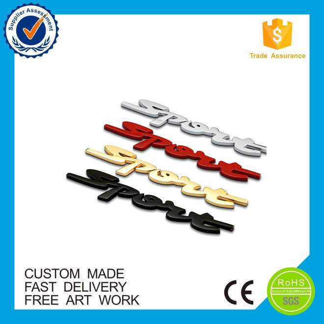 high quality ABS material Custom badges car emblem