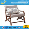 Direct Manufacturer Solid Wood flax Single Sofa Chair Furniture Beautiful Fashion and Simple Chair
